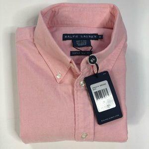 Ralph Lauren Women's Oxford Long Sleeve pink